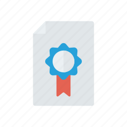 achivement, approved, certificate, degree icon
