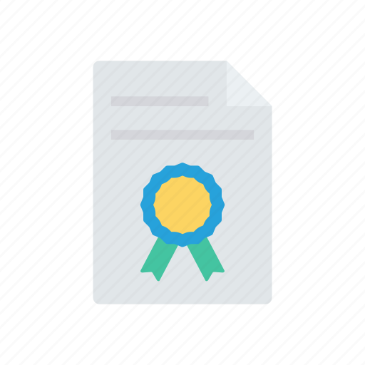 approved, certificate, degree, diploma icon