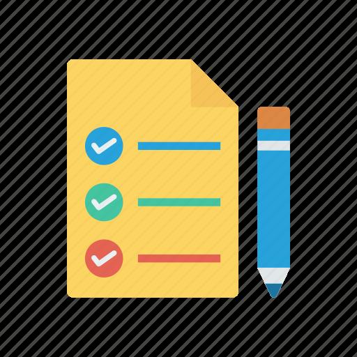checklist, edit, survey, tick icon