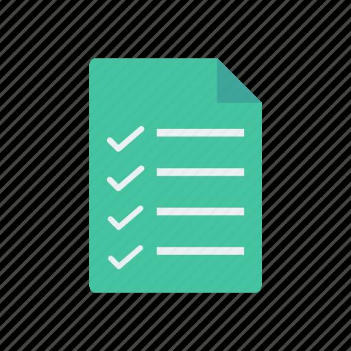 checklist, document, survey, tasklist icon