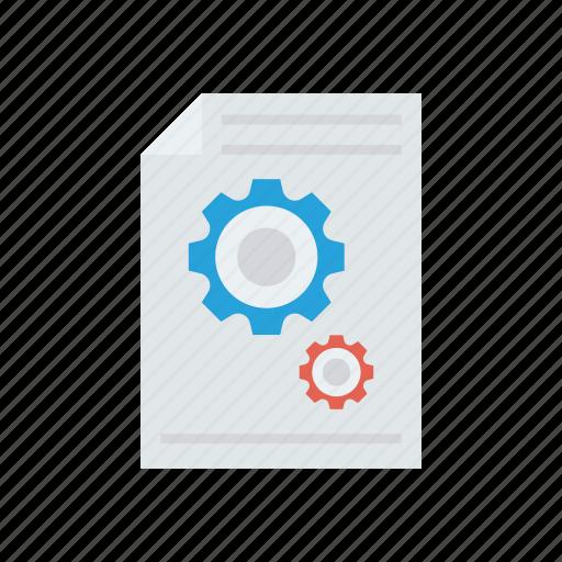 configuration, document, file, setting icon