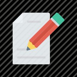 contact, doc, edit, file icon