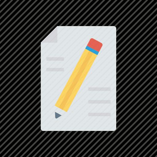 contract, create, edit, write icon