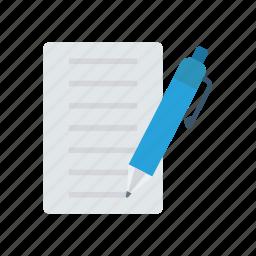 contract, doc, edit, write icon