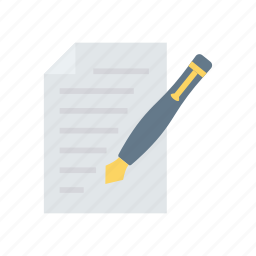 contract, edit, sign, write icon