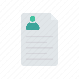 cv, document, file, page icon