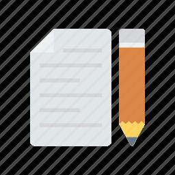 create, doc, edit, write icon