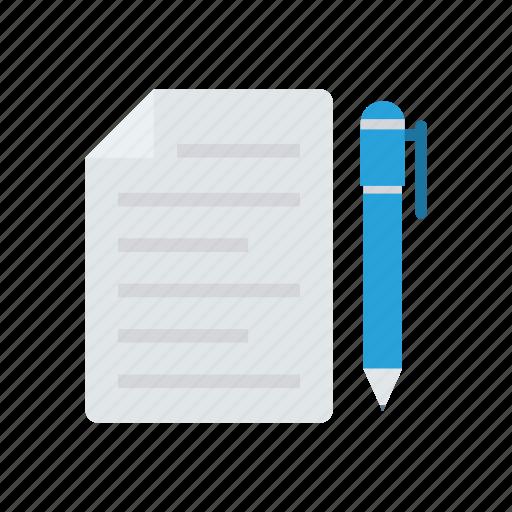 create, edit, file, write icon