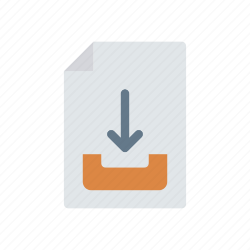doc, download, page, record icon