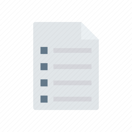 document, file, flyer, page icon