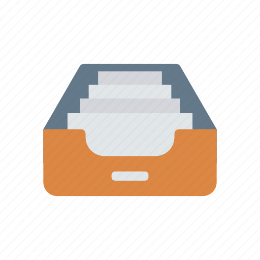 archive, cabinet, drawer, files icon