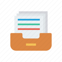 archive, drawer, files, record icon