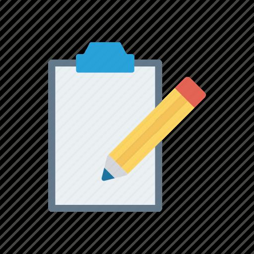 clipboard, doc, edit, write icon