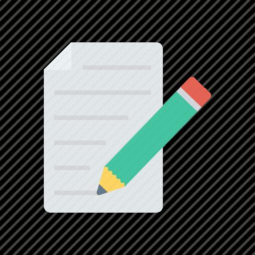 edit, page, pencil, write icon