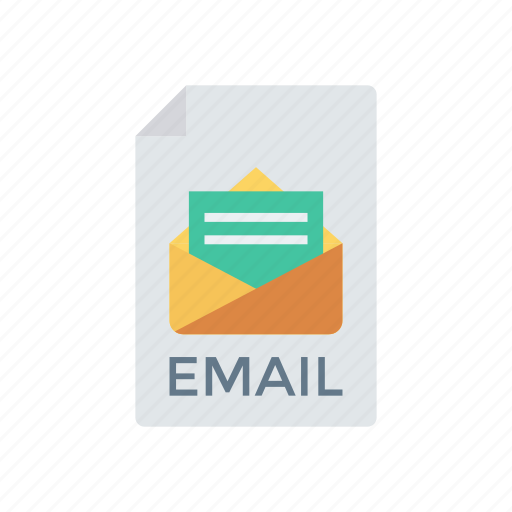 email, file, message, record icon