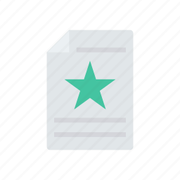 document, favorite, file, flyer icon