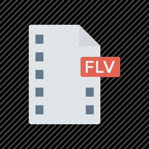 files, flv, record, video icon