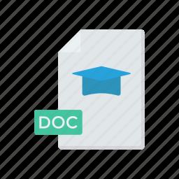 document, education, file, record icon