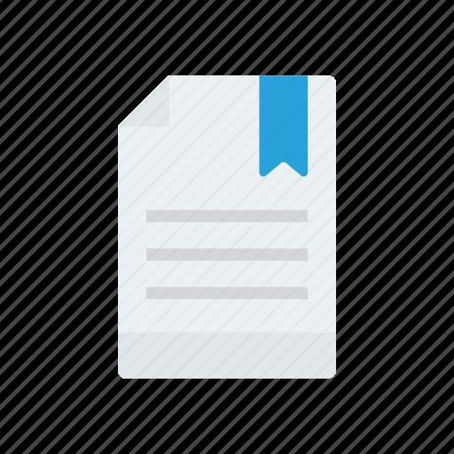 file, mark, page, paper icon