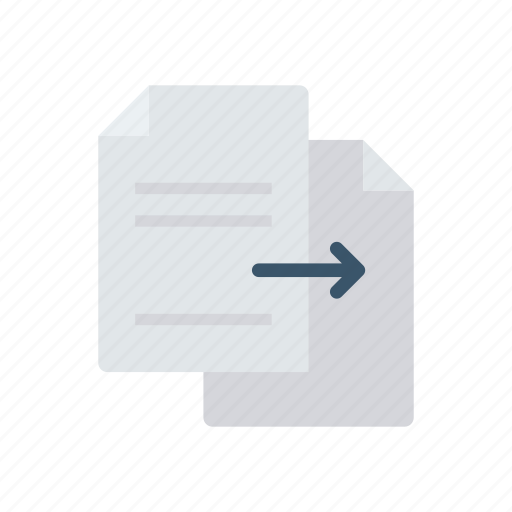 file, page, share, transfer icon