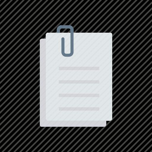 attach, clip, document, files icon