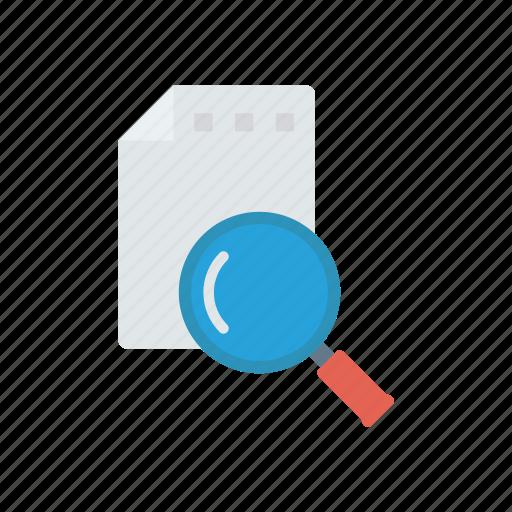 files, magnifier, record, search icon