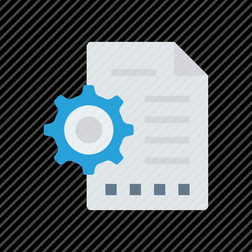 configuration, document, files, setting icon