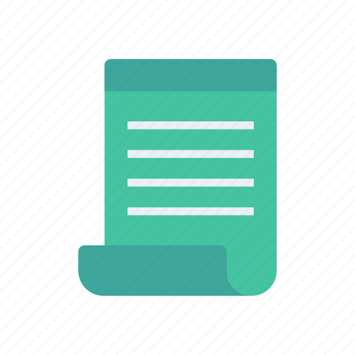 document, flyer, page, record icon