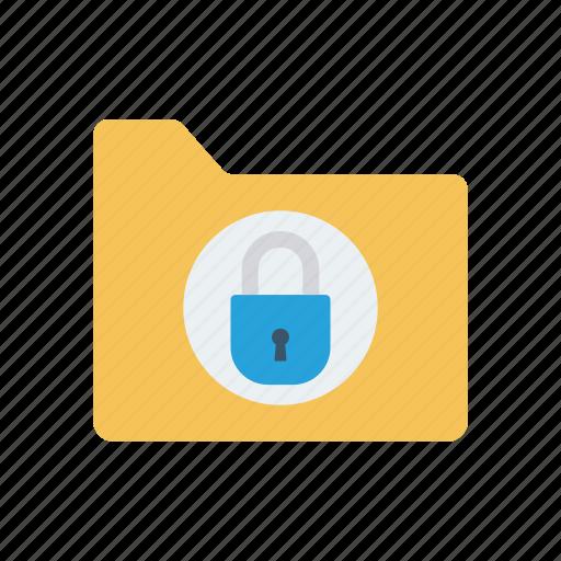 archive, folder, lock, private icon
