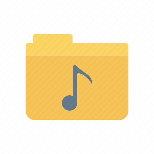 archive, folder, melody, music icon