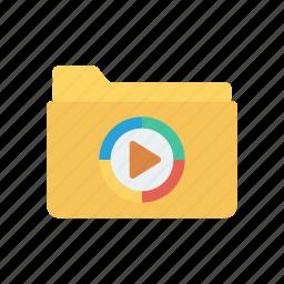archive, folder, music, video icon