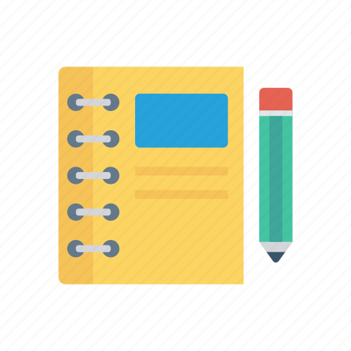notepad, pen, pencil, write icon