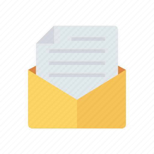 letter, mail, message, open icon