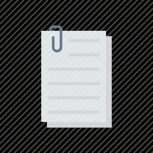 attach, clip, document, page icon