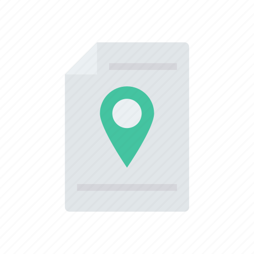 file, location, map, pin icon