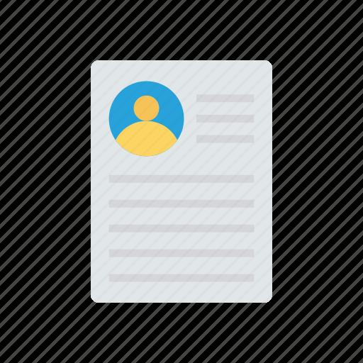 cv, file, page, record icon