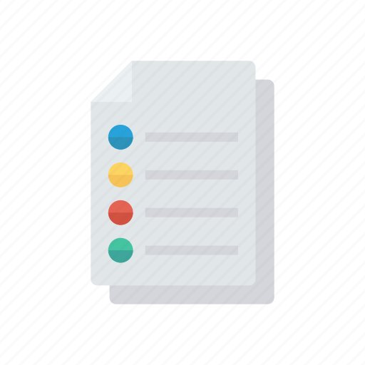 document, files, flyer, record icon