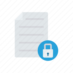 file, lock, protect, record icon