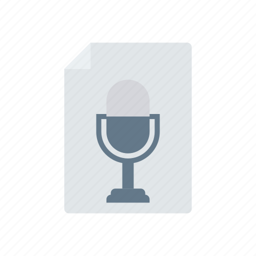 document, file, page, recording icon