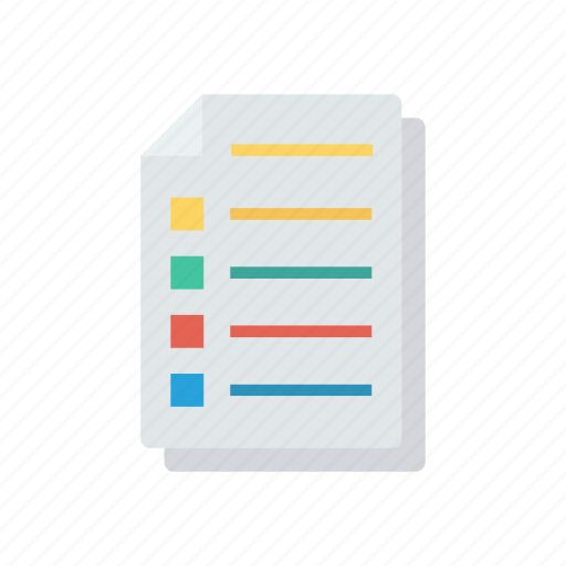 document, files, pages, records icon