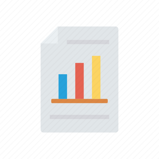chart, graph, report, sheet icon