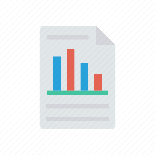 chart, file, graph, report icon
