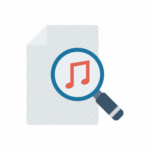 document, files, music, search icon