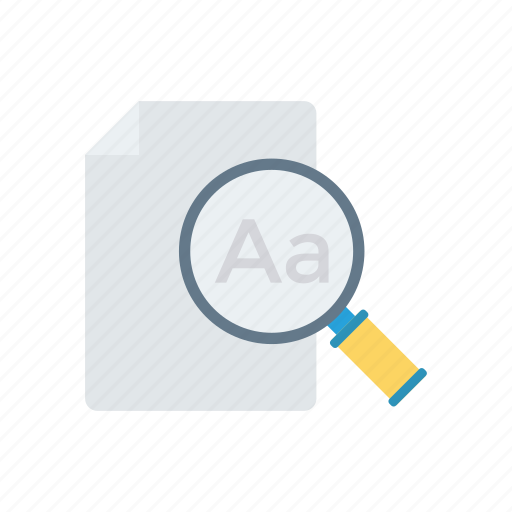 document, page, search, text icon