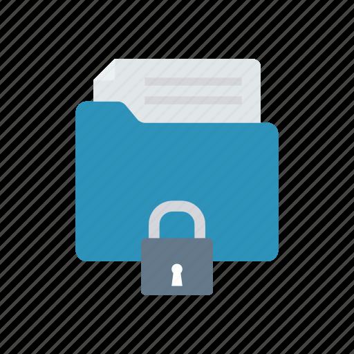 document, lock, private, security icon