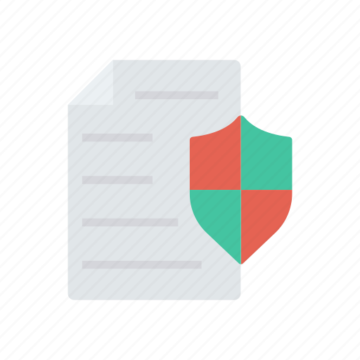 file, protection, security, shield icon