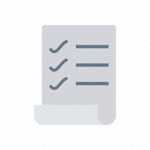checklist, file, record, survey icon