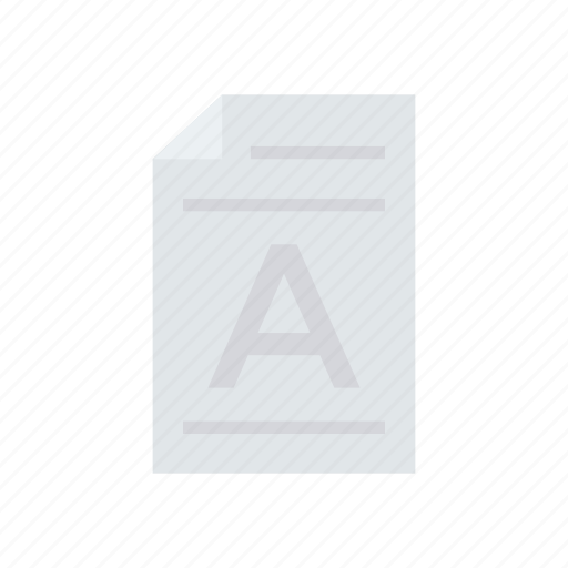 document, file, record, text icon