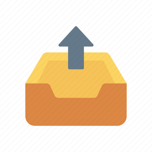 cabinet, drawer, interior, upload icon