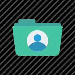 archive, data, folder, user icon